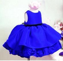 Retail 2015 New Baby Kids Girl Princess Party Dress Girls Toddler Flower Wedding Tutu Causal Dresses
