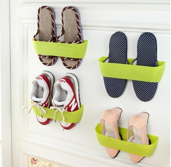2015 New Creative Stereoscopic Wall Shelf Shoe Rack Storage Rack (Gift Strong Double-Sided Adhesive)(China (Mainland))