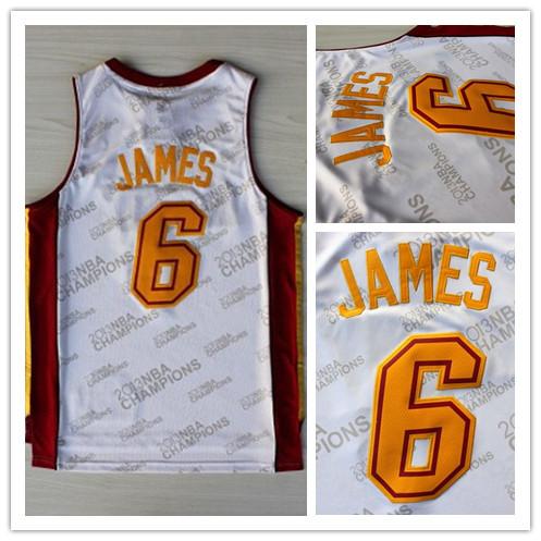 Miami 6 LeBron James White Gold Print Basketball Jersey, Cheap New REV 30 Embroidery Logo James Basketball Jersey, Free Shipping(China (Mainland))