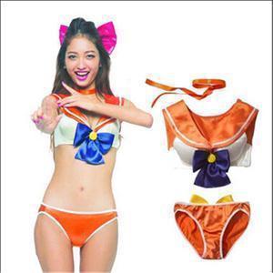 New Delicate Hot New Lolita Style Women Underwear,Cotton Padded 3/4 Cup Bow Sailor Moon Underwear Bra Brief Sets Women Bra(China (Mainland))