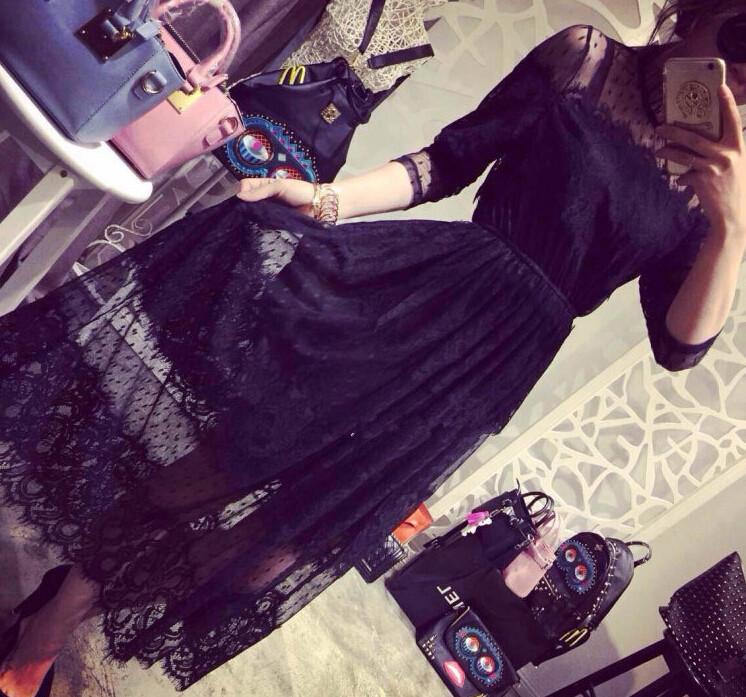 2015 New Arrival Women's Clothing Lace Dresses free size vestidos de fiesta plus size casual dress women clothing(China (Mainland))