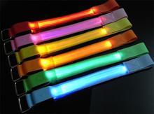 300pcs/lot  LED light Armband Safety Reflective Belt Arm Band Shine Armband for running