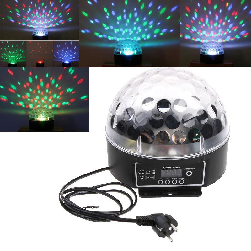 Mini LED Stage Light RGB Crystal Magic Ball Effect light DMX 512 Control Pannel Disco DJ Party Stage Lighting high quality 1pc(China (Mainland))