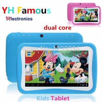 7 дюймов двухъядерный планшет пк RK3026 дети дети PAD MID андроид 4.4 двойной камерой и развивающие игры на день рождения App машинного обучения
