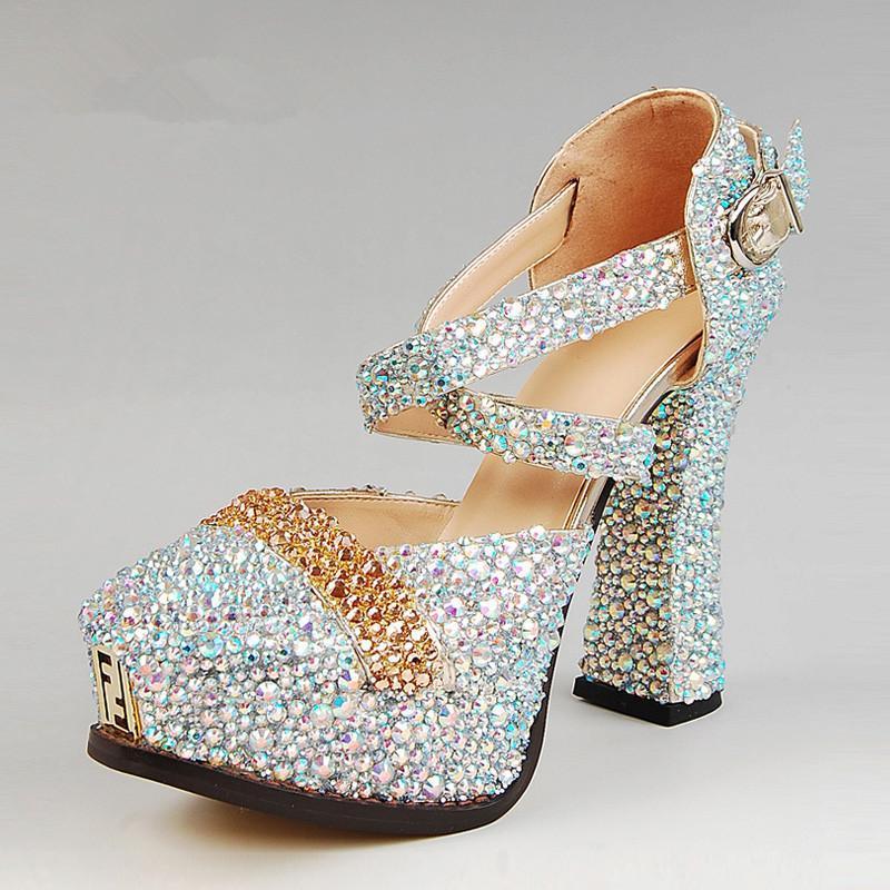 2015 new wedding shoes fashion silver dress shoes