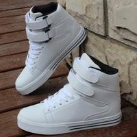 2015 new men's fashion Korean high-top shoes sneakers white skateboard shoes. Free Shipping