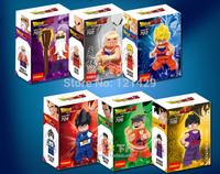 High Quality Dragon Ball Mini Figures 6pcs/lot No original box Son Goku Vegeta Master Roshi Krillin Yamcha Son GoHan Free Ship