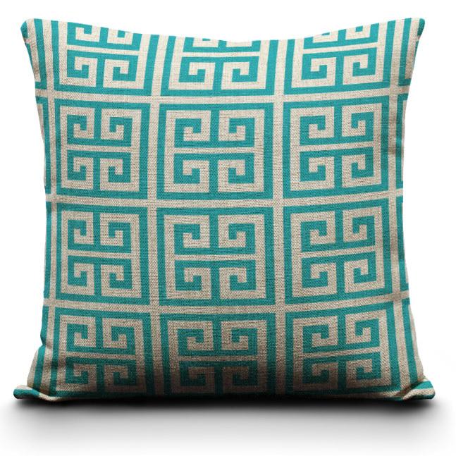 Online kopen wholesale geometrische kussens uit china geometrische kussens groothandel - Blauwe turquoise decoratie ...