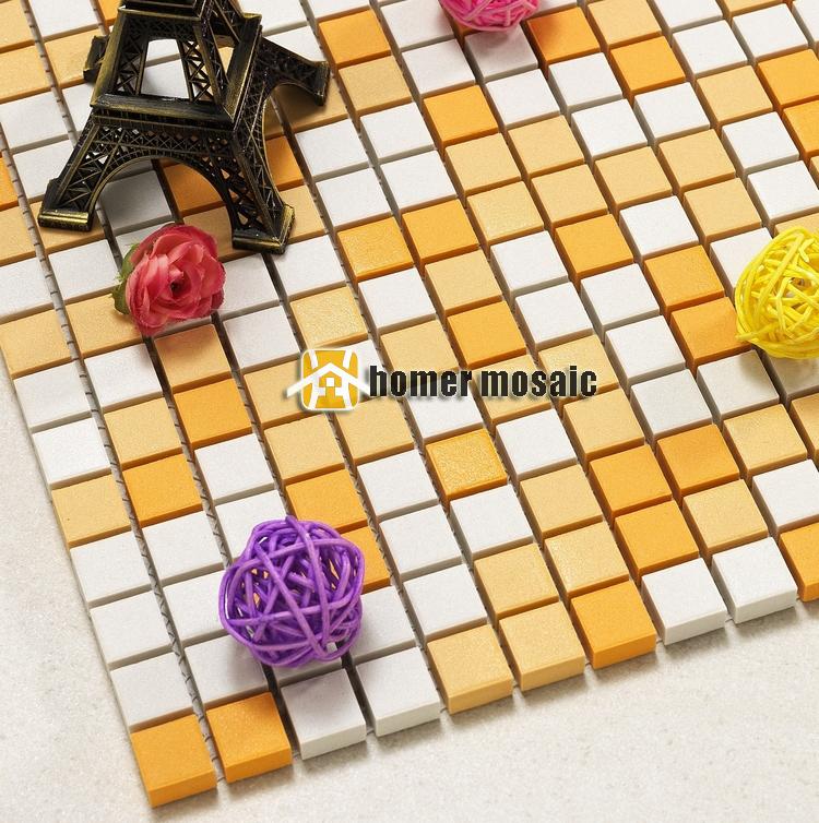 through body ceramic tile mixed orange color ceramc mosaic for bathroom shower mosaic kitchen backsplash wall and floor tiles(China (Mainland))