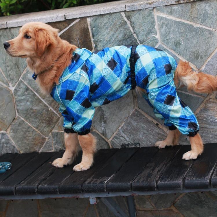 Pet Bar Large dog raincoat pet products Super waterproof dog rain coat hooded with four legs little dog raincoat GYF-066(China (Mainland))
