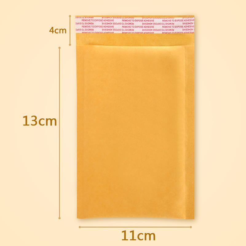 30 PCS/lot 11 * 13 cm bubble bag filling yellow envelope bag mail bag fragile parcel transport packaging(China (Mainland))