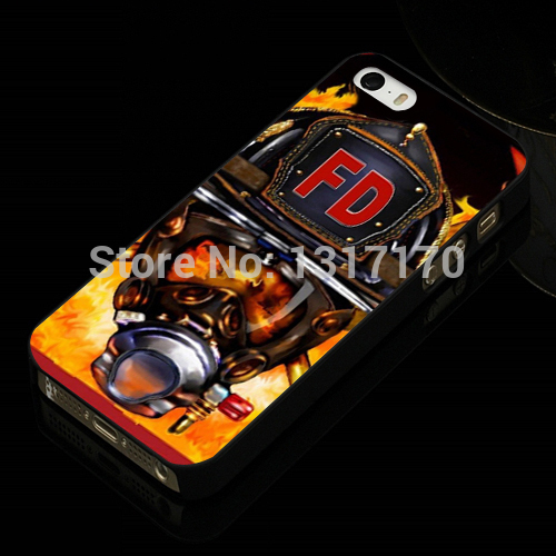 Firefighter Helmet Flames Plastic Hard Back Cover Phone case for IPhone 4 4s 5 5s 5c 6 6plus samsung s3 s4 s5 mini note 2 3 4(China (Mainland))