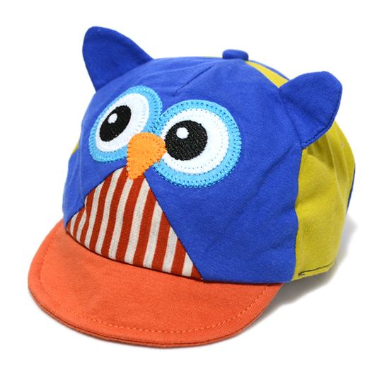 2015 New Cute Owl Baseball cap infant cotton cap girls boys cartoon cap for 3 -12 months baby hat 4 colors(China (Mainland))