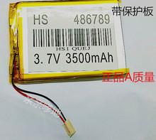 7 дюймов планшет встроенный перезаряжаемый полимер аккумулятор 486789 P 3500 мАч pda применимо