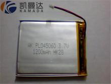 Поставка полимера литиевая батарея 045060PL-1250mAh / 12 В портативный цифровой спутниковый искатель литиевая батарея
