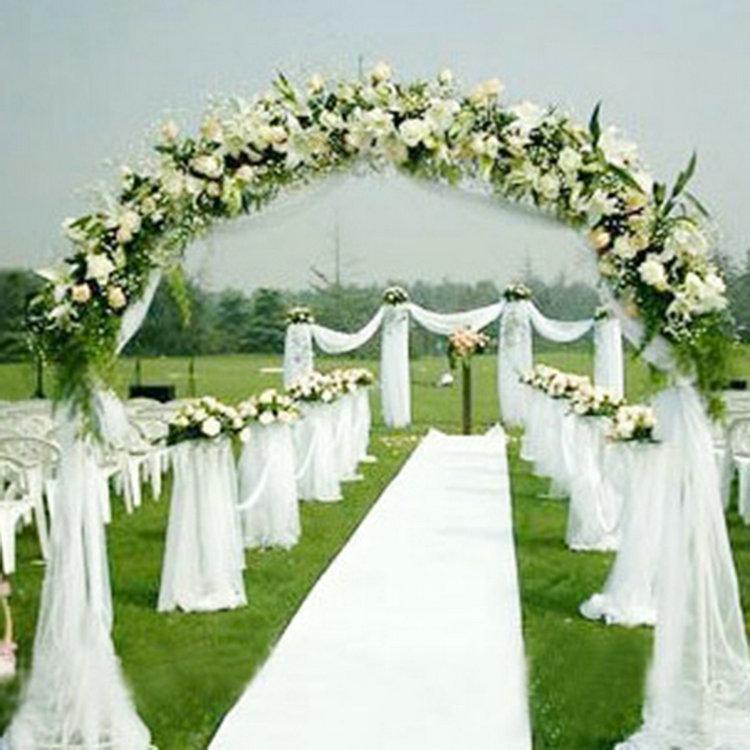 1000cm*75cm White Roll Soft Sheer DIY Organza Fabric Wedding Chair Sash Bows Swag Party Decoration(China (Mainland))