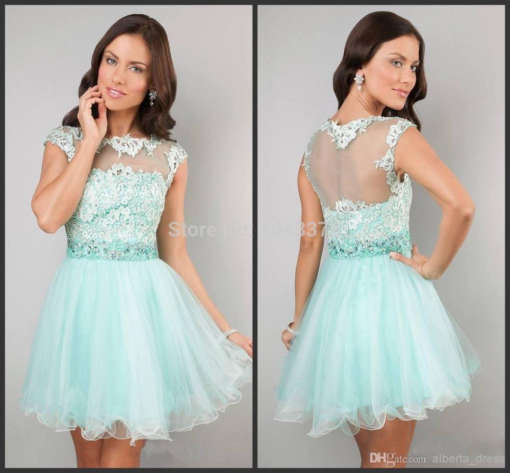 compra vestidos de color menta online al por mayor de