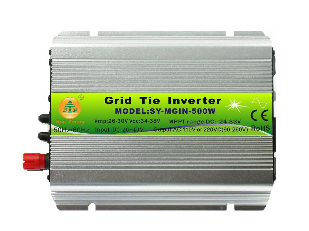 500W 24VDC 230V Indoor Type Power Jack Type Solar Power Grid Tie Inverter for 24V System(China (Mainland))