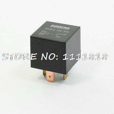 10 Pcs Auto Car Vehicle Security 4 Pins SPST NC Power Relay DC 24V 40A(China (Mainland))