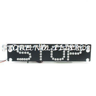 Auto Tail Brake Light Black Rectangle Stop Warning Sign White LED Flash Light(China (Mainland))