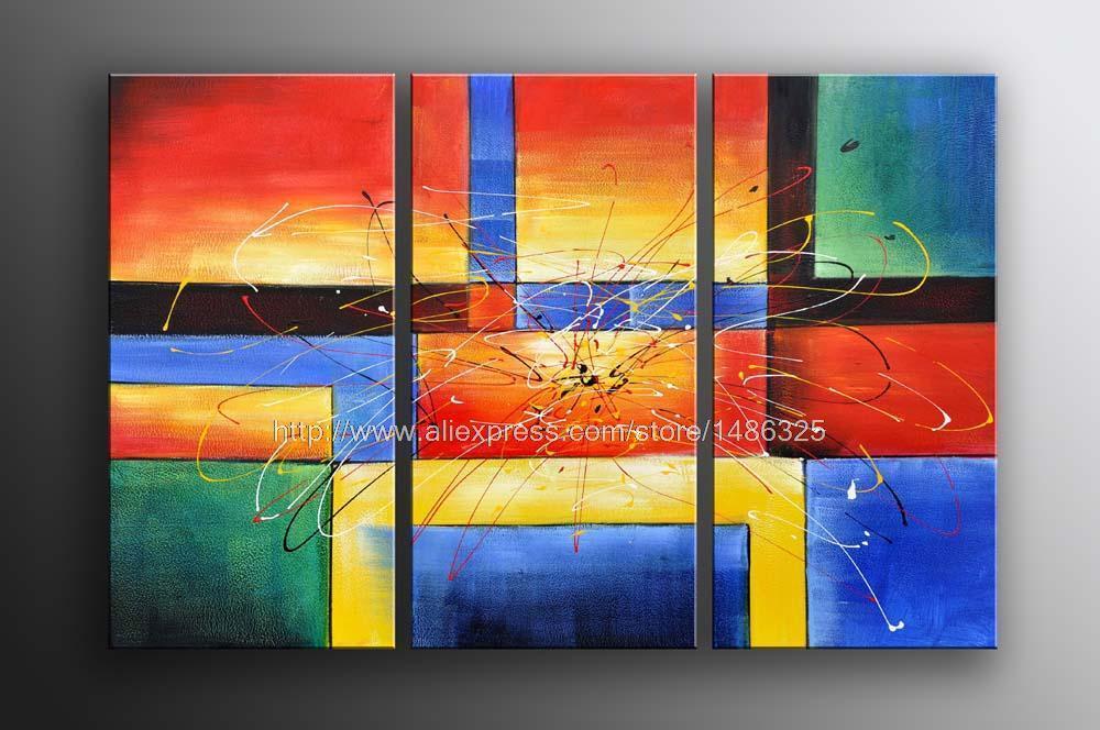 Pintura a oleo abstrato