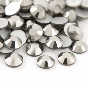 1440pcs/lot ss4(1.5-1.6mm) hematite loose diy flat back 3d nail art decoration glass glitter rhinestones(China (Mainland))