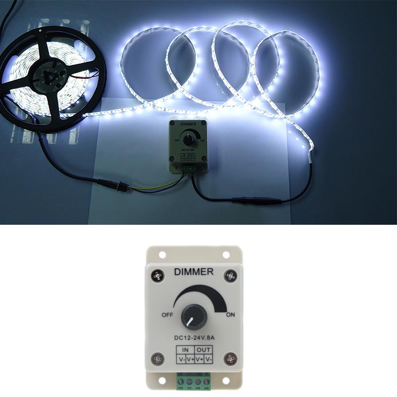 Rotary Knob Control LED Dimmer RGB Controller DC 12-24V Single Color Bright Adjust Controler for 5050 3528 LED Light Strip(China (Mainland))
