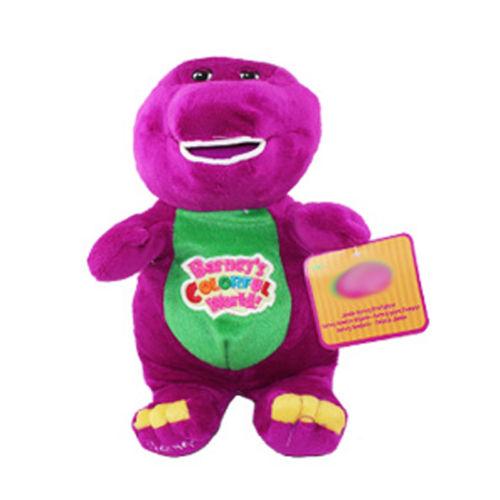 Cut Barney The Dinosaur 28cm Sing I LOVE YOU song Purple Plush Soft Toy Doll(China (Mainland))