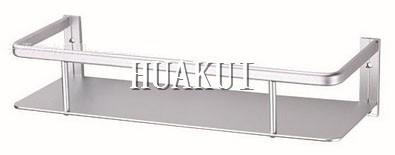45 cm glass shelf/single layer glass shelf/bathroom shelves with brass base(China (Mainland))