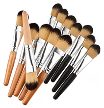 Hot Beauty Professional popular Wooden Handle Cosmetic Kits MakeUp Foundation Powder Brush y935 1