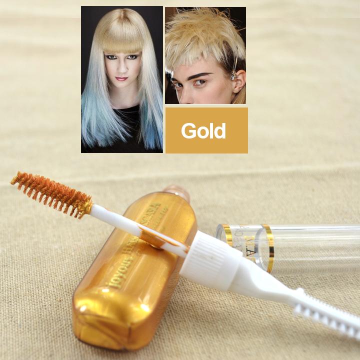Hair Color Hair Dye Color Easy Temporary New hair coloring brush DIY 2015 Hair Mascara Color Hair Cream fashion hair color(China (Mainland))