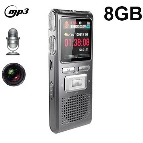Цифровой диктофон EDOEM 8GB LCD HD MP3 VOR SKU-LYBDVR30 8gb hq 650hr карты памяти usb аккумуляторная цифровой диктофон ручка серебро