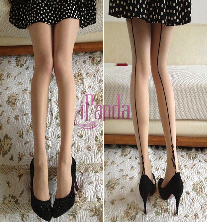 Леди позже ноги вертикальные полосы шаблон массаж ног печатных чулки колготки #68657
