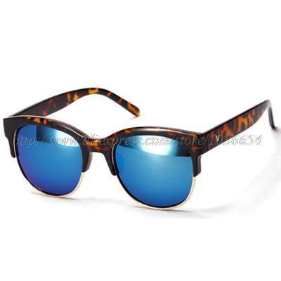Retro Women Sunglasses Suqare Metal Sunglasses Brand Designer Sunglas Style Colorful Reflective Goggles 2015 New Drop Shipping(China (Mainland))