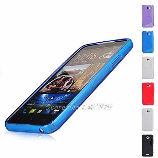 For HTC Desire 516 dual sim TPU S-LINE SILICON GEL CASE COVER(China (Mainland))