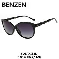 2015 Women Sunglasses Polarized Black  Retro Cat Eye Female Sun Glasses  Oculos De Sol Feminino  Gafas De Sol With Case 6064