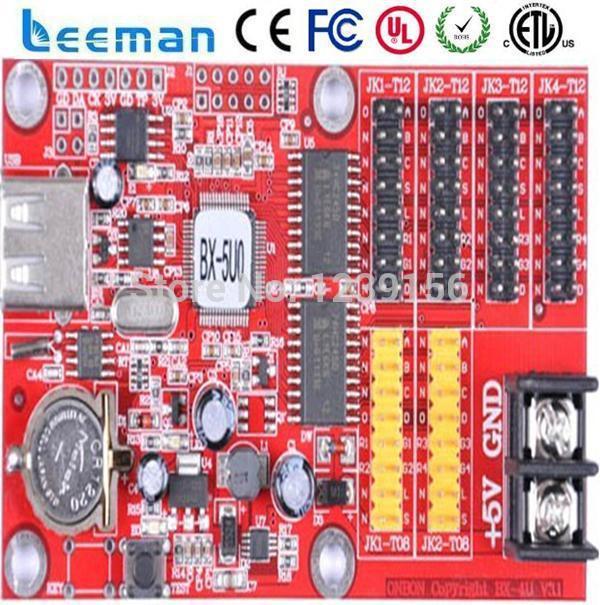 Leeman single BX-5U0 led controller --- led control system temperature & humidity sensor led asynchronous control card bx-5u0(China (Mainland))
