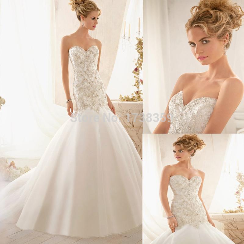 Vestido De Noiva Casamento Princesa 2015 nova bela império trem escova De cristal frisada vestidos De Casamento nupcial vestidos De Casamento(China (Mainland))