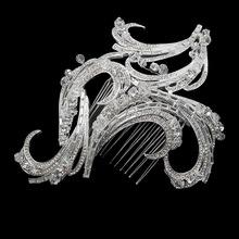 Hot 2015 Tiara Decoration For Hair Rhinestone Bridal Wedding Hairpins Hair Accessories Jewelry HCJ209