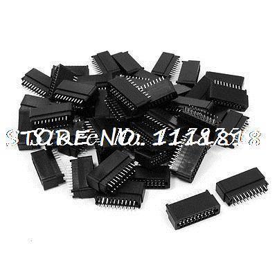 50 Pcs 2.54mm Pitch 2x10 Pins Dual Rows IDC Box Connector Headers 20 Pins(China (Mainland))