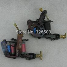Lot Of 2PCS Top Tattoo Machine Gun For Kit Power Set Supply 10 Wrap Coils FSM0106(China (Mainland))