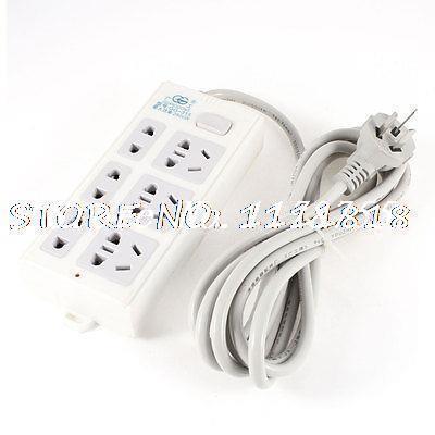 Offcie US AU EU Type Plug Socket Electric 9 Outlet Power Strip Splitter 250V 16A(China (Mainland))