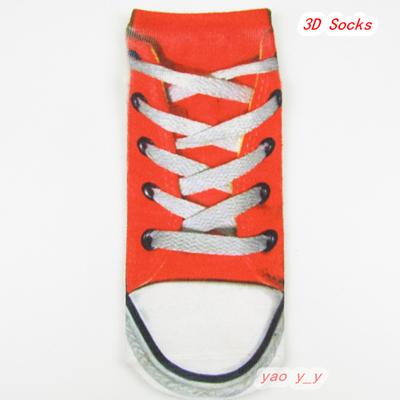 Shoes Print Women 3D Cotton Ankle Socks Hot Sale Retail/Wholesale Factory Female Novelty Sock Meias Femininas(China (Mainland))