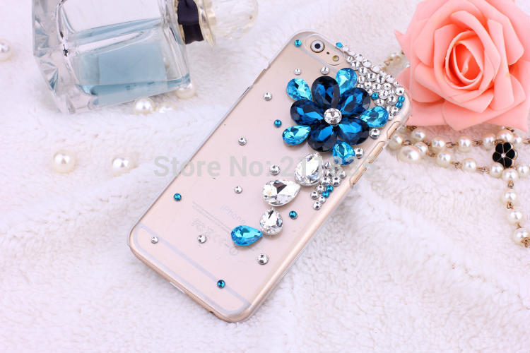 Rhinestone bling crystal clear back cover luxury DIY Peacock Crown Flower Pattern Diamond 3D Phone case for iPhone 5 5S Gift(China (Mainland))