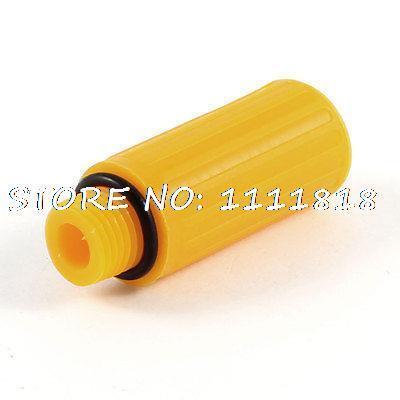 "Spare Parts Plastic 1/2"" Thread Air Compressor Oil Plug Yellow(China (Mainland))"