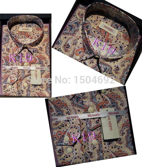 product KI02# New KIEANZO Pola smith Brand  shirt Slim Casual men Stripe shirts  High Quality Mens dress shirts long sleeve men shirt