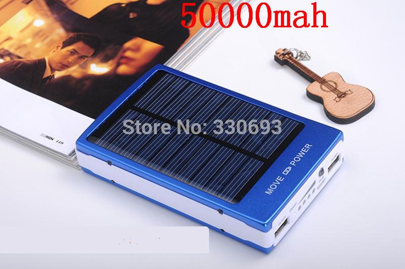 The factory stock solar power bank 50000mah solar charger powerbank carregador de bateria portatil for iPhone for HTC for PSP(China (Mainland))