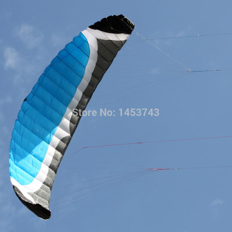 RTF Set For 7Sqm High Quality Stronger Wind Quad Line Power Kite Buggying Kitesurfing + 4x250kg/180x25m Dyneema Line + Handles(China (Mainland))