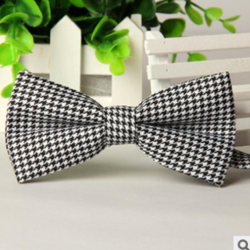 brand gravata corbatas pajaritas hombre Black white pattern British grid wedding bow tie LYY4961 marca noeud papillon collares(China (Mainland))