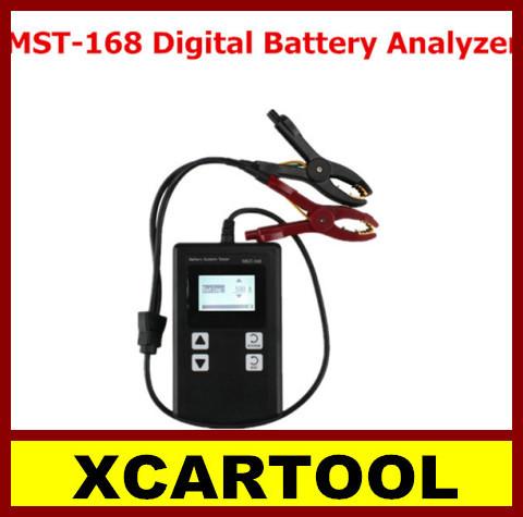 [XCARTOOL] 2015 Powerful MST-168 Portable 12V Digital Battery Analyzer MST 168 Auto Car Battery Tester Charge Tester Free Shippi(China (Mainland))